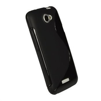 HTC One X One X iGadgitz Dual Tone TPU Napsautuskuori Musta