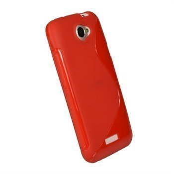 HTC One X One X+ iGadgitz Dual Tone TPU Napsautuskuori Punainen