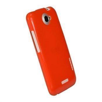 HTC One X One X+ iGadgitz Glossy Durable TPU Napsautuskuori Punainen