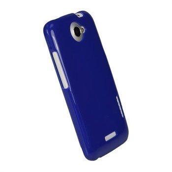 HTC One X One X+ iGadgitz Glossy Durable TPU Napsautuskuori Sininen