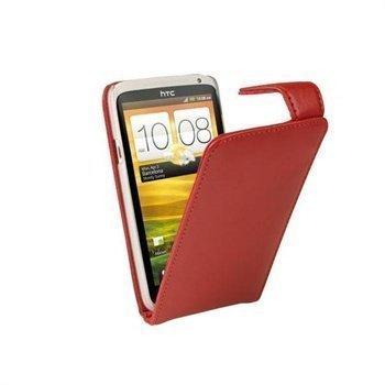 HTC One X One X+ iGadgitz Nahkakotelo Punainen
