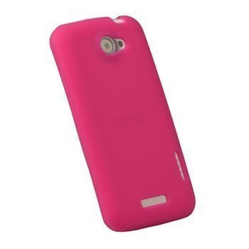 HTC One X One X+ iGadgitz Silikonisuojus Kuuma Pinkki