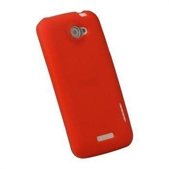 HTC One X One X+ iGadgitz Silikonisuojus Punainen