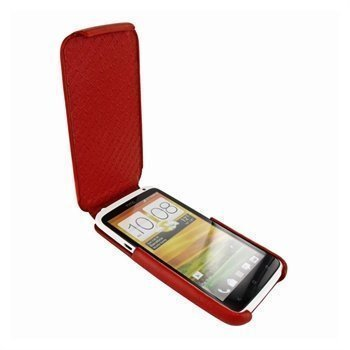 HTC One X Piel Frama iMagnum2 Nahkakotelo Punainen