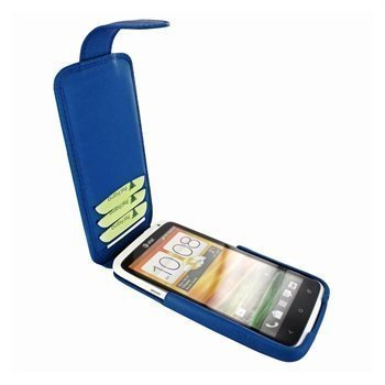 HTC One X Piel Frama iMagnum2 Nahkakotelo Sininen