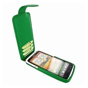 HTC One X Piel Frama iMagnum2 Nahkakotelo Vihreä
