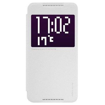 HTC One X9 Nillkin Sparkle Series Smart Ikkunallinen Läppäkotelo Valkoinen