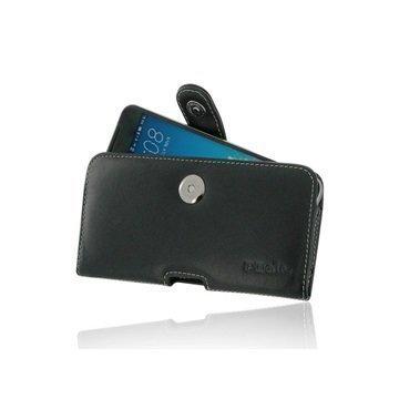 HTC One X9 PDair Vaakasuuntainen Nahkakotelo Musta