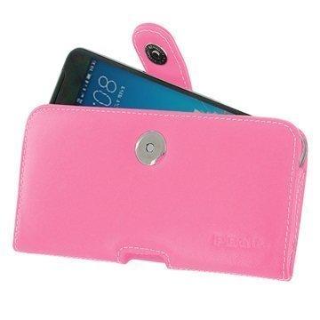 HTC One X9 PDair Vaakasuuntainen Nahkakotelo Pinkki