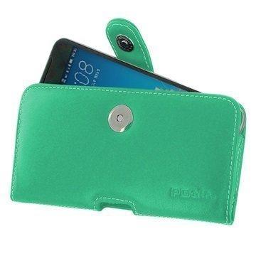 HTC One X9 PDair Vaakasuuntainen Nahkakotelo Turkoosi