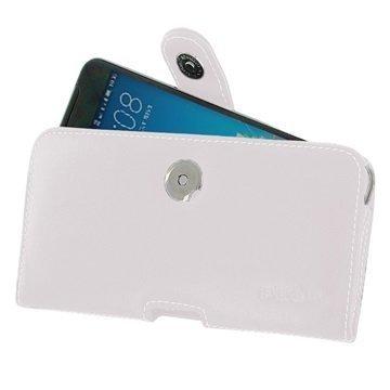 HTC One X9 PDair Vaakasuuntainen Nahkakotelo Valkoinen