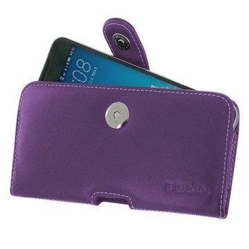 HTC One X9 PDair Vaakasuuntainen Nahkakotelo Violetti