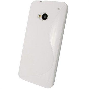 HTC One iGadgitz Kaksisävyinen TPU-Suojakotelo Valkoinen