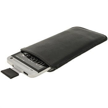HTC One iGadgitz Leather Case Black