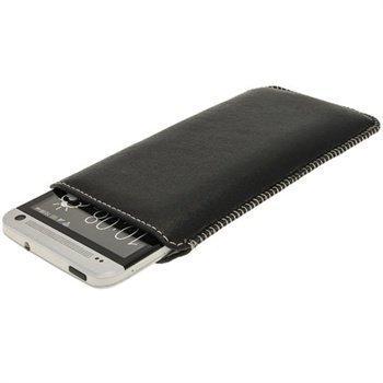 HTC One iGadgitz Nahkakotelo Musta