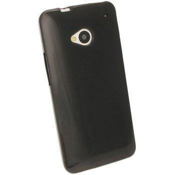 HTC One iGadgitz TPU-Suojakotelo Musta