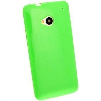 HTC One iGadgitz TPU-Suojakotelo Vihreä
