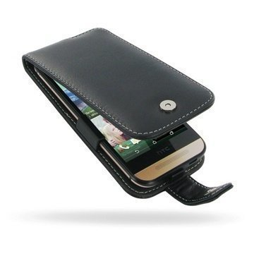 HTC One mini 2 PDair Leather Case 3BHTO2F41 Musta