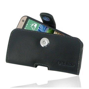 HTC One mini 2 PDair Vaakakotelo Nahka Musta
