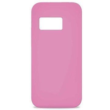 HTC One mini 2 Puro 0.3 Ultra Slim Silikonikotelo Pinkki