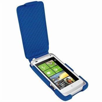 HTC Radar Piel Frama iMagnum Nahkakotelo Sininen
