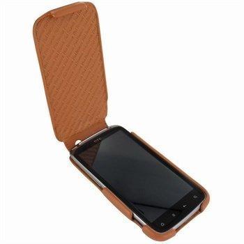 HTC Sensation Piel Frama iMagnum Nahkakotelo Parkittunahka