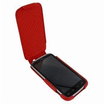 HTC Sensation Piel Frama iMagnum Nahkakotelo Punainen
