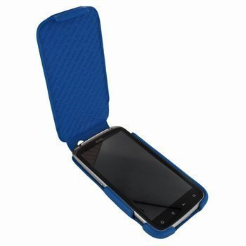 HTC Sensation Piel Frama iMagnum Nahkakotelo Sininen