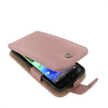 HTC Sensation Sensation 4G Sensation XE PDair Leather Case 3PHTS4F41 Vaaleanpunainen