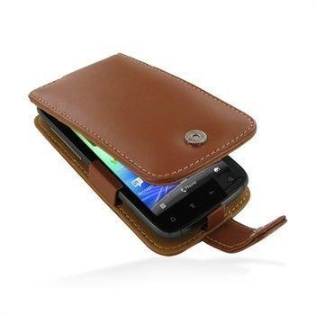 HTC Sensation Sensation 4G Sensation XE PDair Leather Case 3THTS4F41 Ruskea