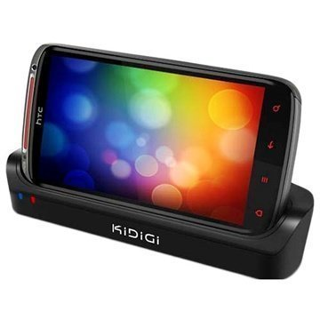 HTC Sensation XE KiDiGi Cover-Mate Dual USB Desktop Charger