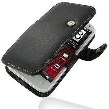 HTC Sensation XL PDair Leather Case 3BHTXLB41 Musta