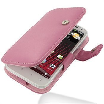 HTC Sensation XL PDair Leather Case 3JHTXLB41 Vaaleanpunainen