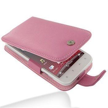 HTC Sensation XL PDair Leather Case 3JHTXLF41 Vaaleanpunainen