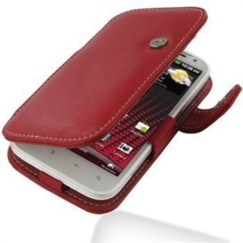 HTC Sensation XL PDair Leather Case 3RHTXLB41 Punainen