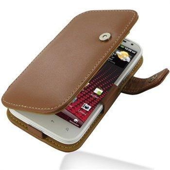 HTC Sensation XL PDair Leather Case 3THTXLB41 Ruskea