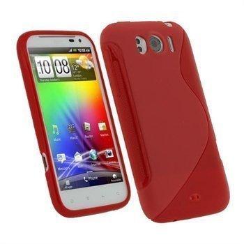 HTC Sensation XL iGadgitz Dual Tone TPU-suojakuori Punainen