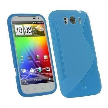 HTC Sensation XL iGadgitz Dual Tone TPU-suojakuori Sininen