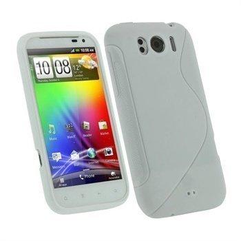 HTC Sensation XL iGadgitz Dual Tone TPU-suojakuori Valkoinen
