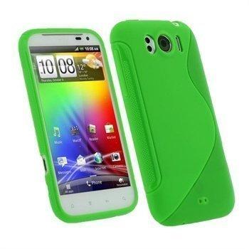 HTC Sensation XL iGadgitz Dual Tone TPU-suojakuori Vihreä