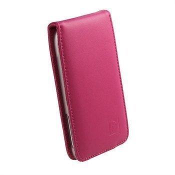 HTC Sensation XL iGadgitz Nahkakotelo Vaaleanpunainen