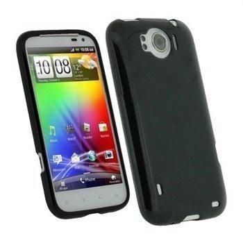 HTC Sensation XL iGadgitz TPU-suojakuori Musta