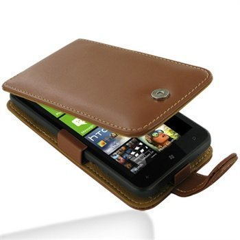 HTC Titan PDair Leather Case 3THTTAF41 Ruskea