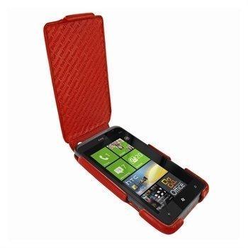 HTC Titan Piel Frama iMagnum Leather Case Red