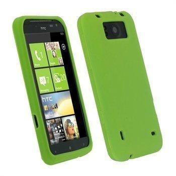 HTC Titan iGadgitz Silikonikotelo Vihreä