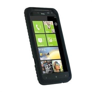 HTC Titan iGadgitz Silikonisuojus Rengaspinnoite Musta