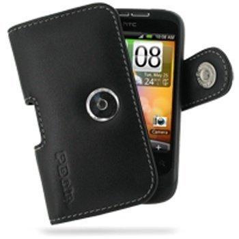 HTC Wildfire PDair Leather Case 3BHTWEP01 Musta