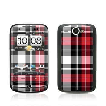 HTC Wildfire Plaid Skin Red