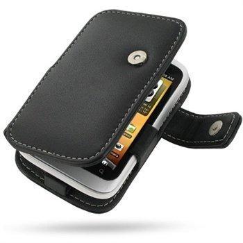 HTC Wildfire S PDair Leather Case 3BHTWSB41 Musta
