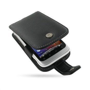 HTC Wildfire S PDair Leather Case 3BHTWSF41 Musta